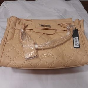 Joe's Jeans Posh Taupe Flap Quilted Tote Purse